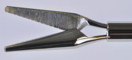 18g IOL Scissors – Curved Shaft